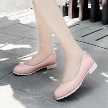 Load image into Gallery viewer, Girls Shallow Round Head Flat Shoes
