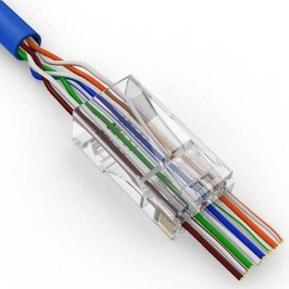 CAT6 RJ45 Feed Through Modular Plug - 100 Pack