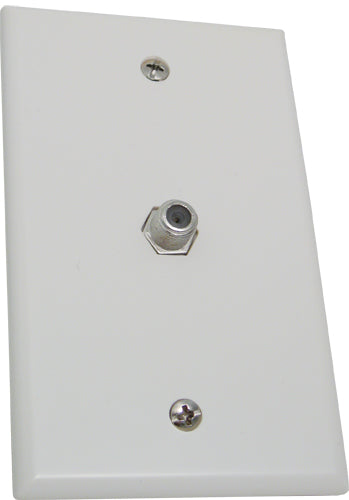 Wall Plate with 1 F81 Coax connector