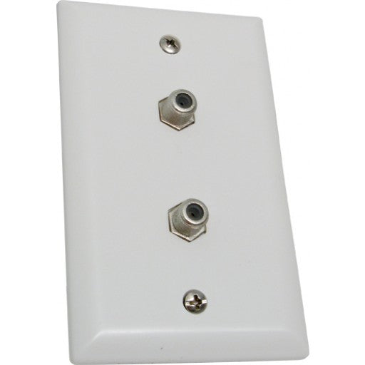 Wall Plate with 2 F81 Coax connector