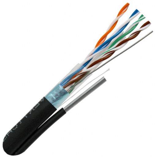 CAT6 Aerial Rated Shielded Outdoor Cable with Messenger