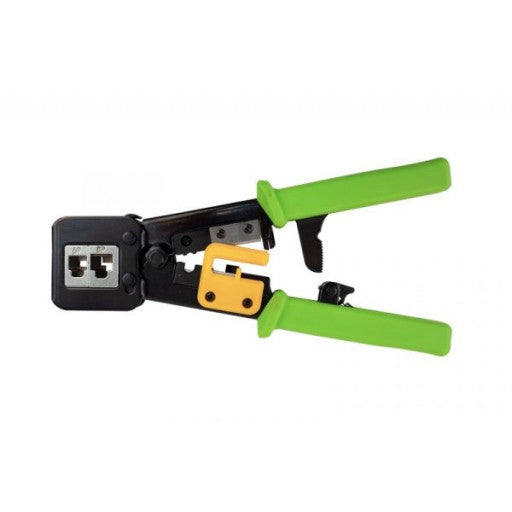 Crimper for Feed Through CAT6A Shielded RJ45 Modular Plugs