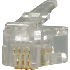 RJ22 Plug, 4 Position, 4 Conductor, For Handset