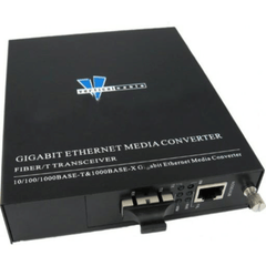 10Km Gigabit Ethernet 1000Mbps Single-Mode Media Converter SC Connector