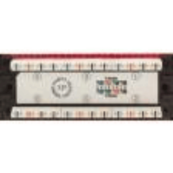 Backwards compatible with CAT5e High Impact Patch Panel Tough Black Painted Finish Number Labeled for Easy Identification Writable & Erasable Marking Surfaces 568A & 568B Wiring Color Codes 110 IDC Terminals 1U;  W: 19   H: 1¾   D: 1¼ inches UL Listed, RoHS Compliant