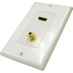1 HDMI and 1 F81 Wall Plate - White