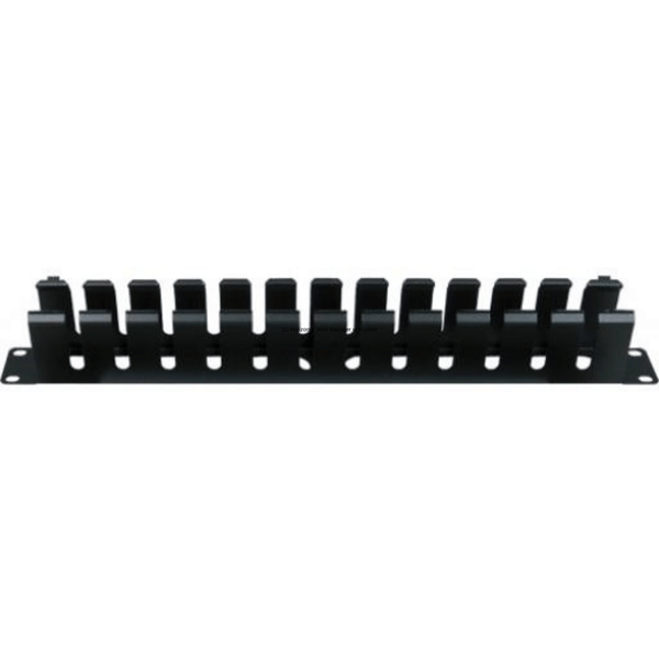 Durable black powder coated finish Brackets accomodate 19″ patch panels Accepts 10/24 or 12/32 screws Mounts on any standard 19″ rack or wall mount