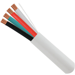 18 AWG 4 Conductor Audio Cable - 500ft. - White