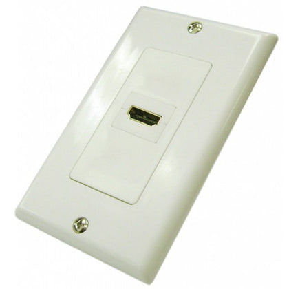 HDMI 1 Port Wall Plate - White