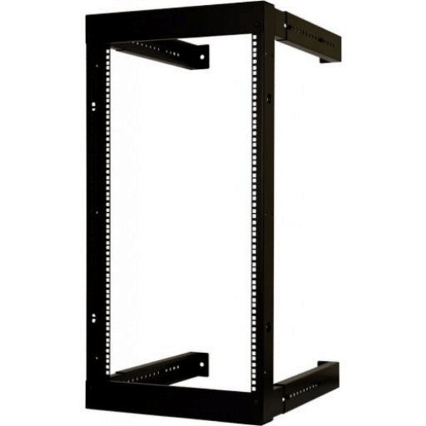 "20U Open Wall Mount Equipment Rack - Adjustable Depth from 18""- 30"" - Hardware included (M6 Cage nuts and screws)"