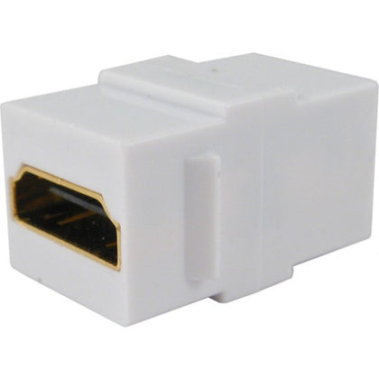 HDMI Keystone Jack Coupler - White