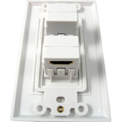 HDMI 2 Port Wall Plate 90 Degree - White