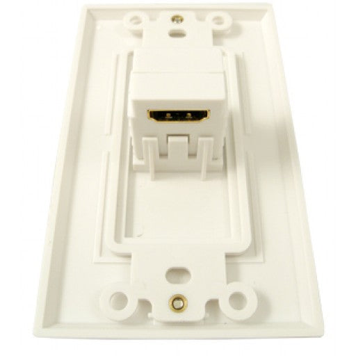 HDMI 1 Port Wall Plate 90 Degree - White