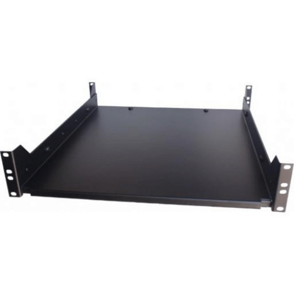 This 2U Adjustable Shelf is ideal for attaching heavy electronics and other peripherals to your home or office network without compromising the safety of your install setup. Best used on a 4 Post Rack.