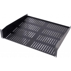 2U Vented Shelf - Black