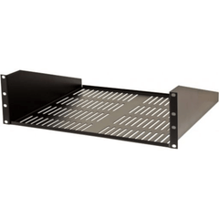 3U Vented Shelf - Black