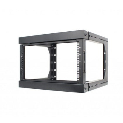 6U Open Wall Mount Frame Rack with Hinge