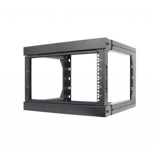 This 6U rack can be mounted to the wall in a server room, office, or above a doorway, expanding your workspace and keeping your equipment easily accessible.