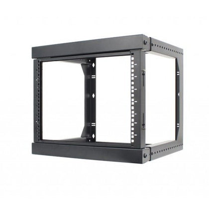 9U Open Wall Mount Frame Rack with Hinge