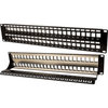 Blank Patch Panel - 48 Port - with Ground for Shielded Jacks