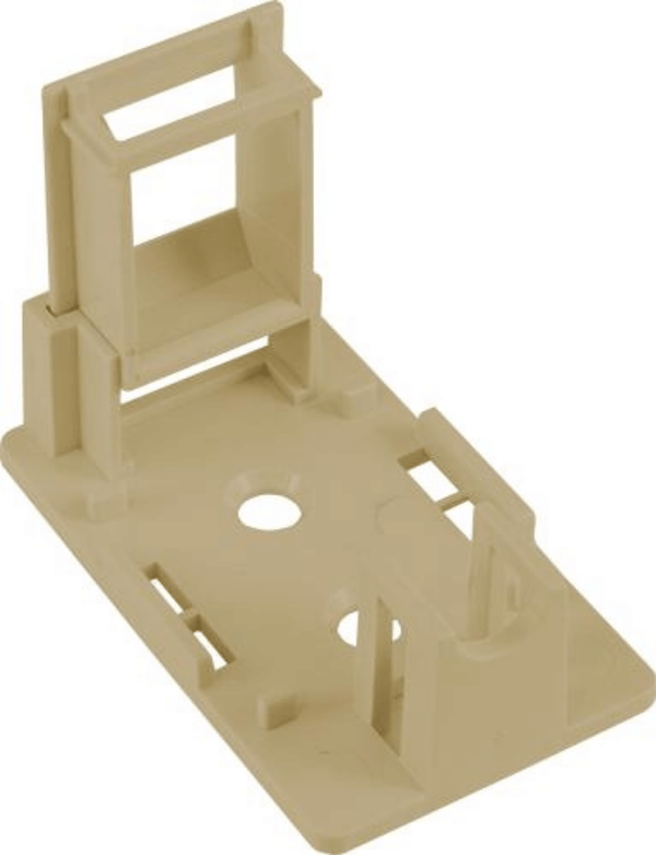 Compatible with most standard Keystone Jacks and Inserts Universal Surface Mount Box No Jack Two piece construction Double-sided tape, screws and ties included UL Listed, RoHS Compliant