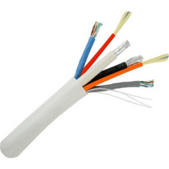 Bundle Cable - CAT5E (UTP), RG6 Quad, Fiber (2 Cores)