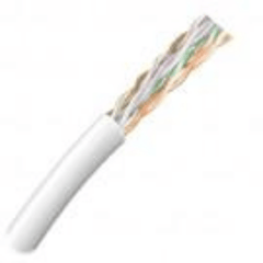 CAT3 24AWG, 4 Pair, Riser Rated, 1000ft Cable - White
