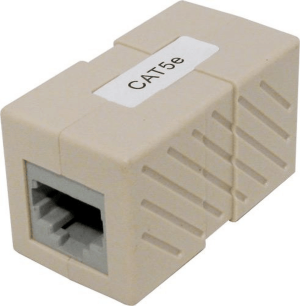 CAT5E RJ45 to RJ45 Inline Coupler Available in White or Ivory UL Listed