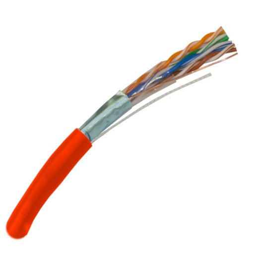 CAT5E Shielded 350Mhz Riser Rated Bulk Cable 1000ft