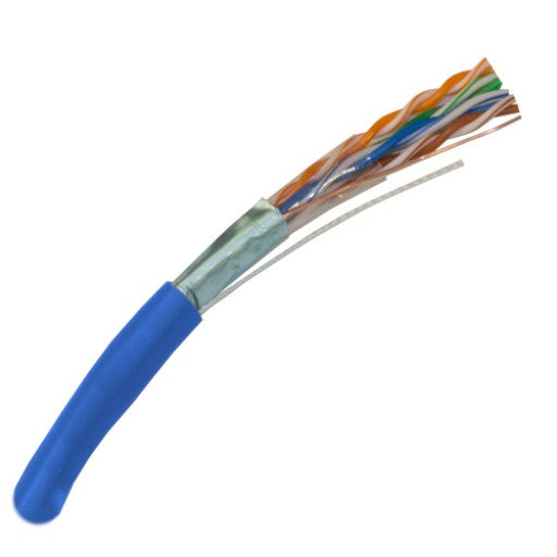 CAT5E Shielded Stranded Cable 350MHz, 26AWG, F/UTP, CM Rated, 4 Pair, Stranded Bare Copper, 1000ft.