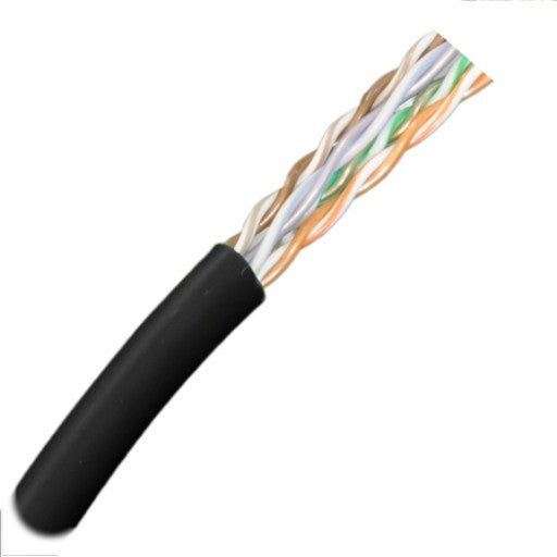 CAT5E Cable 350MHz, 24AWG, UTP, 4 Pair, Stranded, 1000ft. black