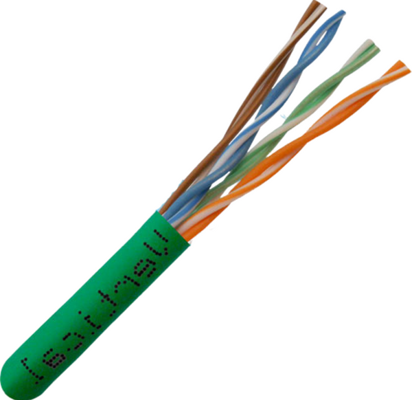 CAT5e 350MHz Plenum Rated Bulk Cable - Made in USA - 1000ft