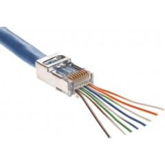 CAT5e Shielded RJ45 Feed Through Modular Plug - 100 Pack