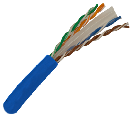 CAT6 550Mhz Riser Rated 100ft. Bulk Cable - Blue