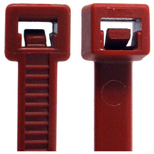 "Plenum Cable Ties 12"" - 50lb. - 100 Pack - Red"