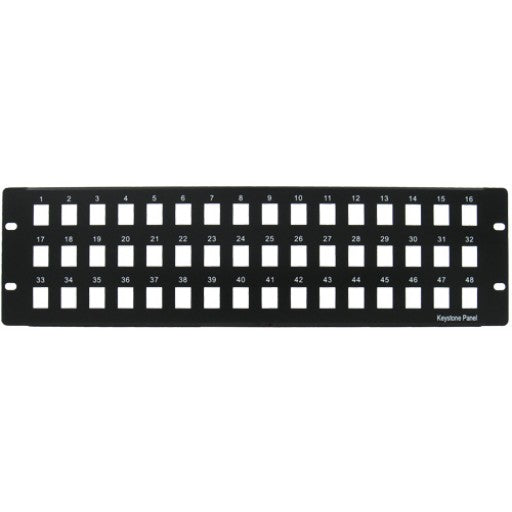 Blank Patch Panel - 48 Port - Black