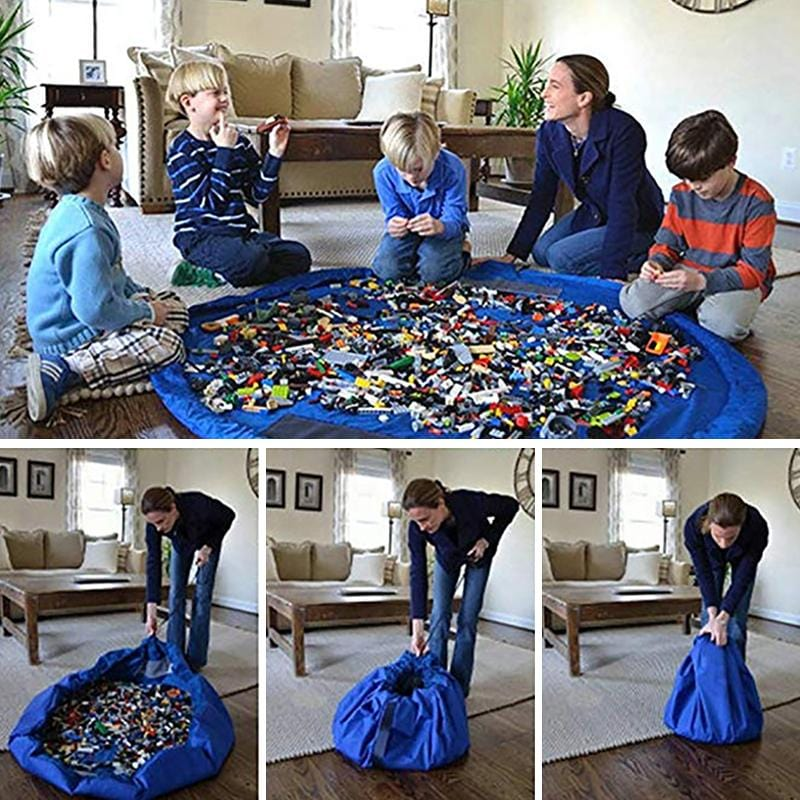 Portable Kids Play Mat / Lego Toys Organizer