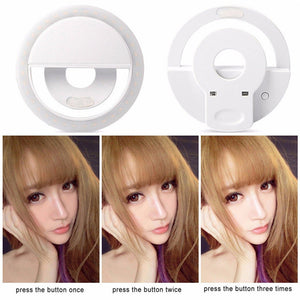 Selfie Ring Light/USB Charged/ Perfect for Phones Tablets and Laptops