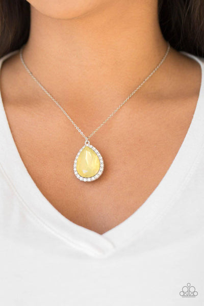 Come Of AGELESS - Yellow Rhinestone Necklace - Paparazzi Accessories - GlaMarous Titi Jewels