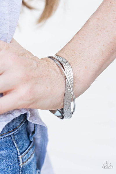 Wandering Waves - Silver Cuff Bracelet - Paparazzi Accessories - GlaMarous Titi Jewels