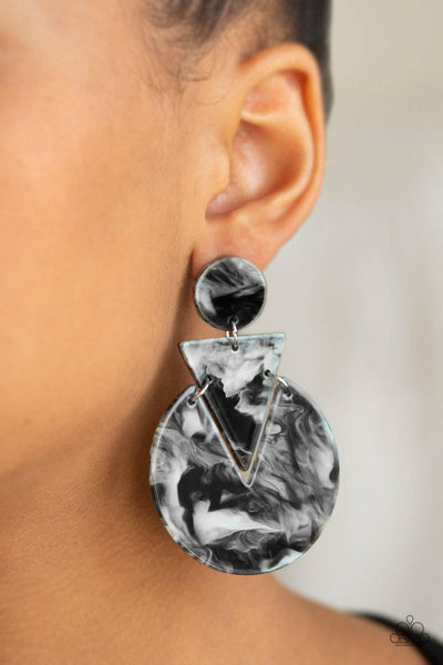 Head Under WATERCOLORS - Black Earrings - Paparazzi  Accessories - GlaMarous Titi Jewels