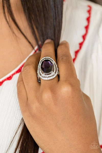 Making History - Purple Rhinestone Ring - Paparazzi Accessories - GlaMarous Titi Jewels