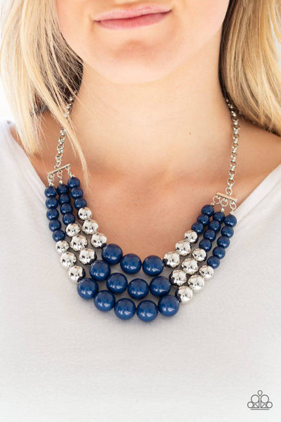Dream Pop - Blue & Silver Necklace - Paparazzi Accessories - GlaMarous Titi Jewels