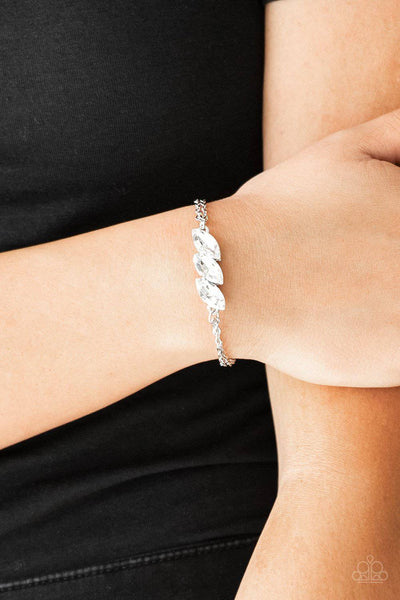 Pretty Priceless White Bracelet - Paparazzi Accessories - GlaMarous Titi Jewels