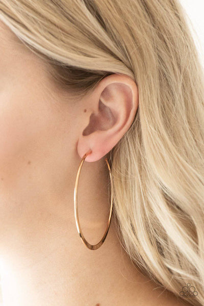 Hoop Hero - Gold Earrings - Paparazzi Accessories - GlaMarous Titi Jewels