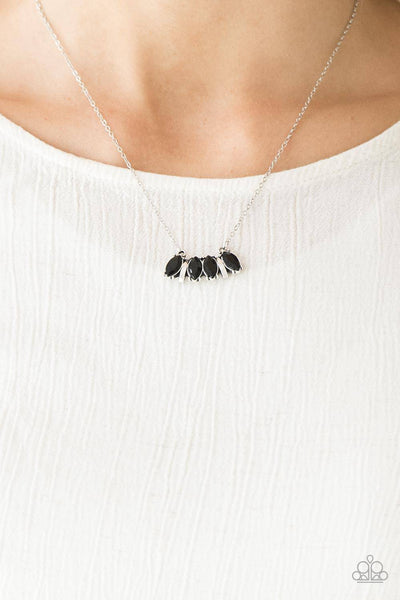Deco Decadence - Black Rhinestone Necklace - Paparazzi Accessories - GlaMarous Titi Jewels