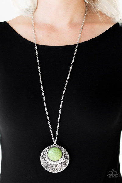 Medallion Meadow - Green-Paparazzi Accessories - GlaMarous Titi Jewels