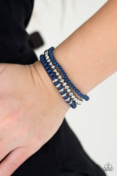 Ideal Idol - Blue Stretchy Bracelet - Paparazzi Accessories - GlaMarous Titi Jewels