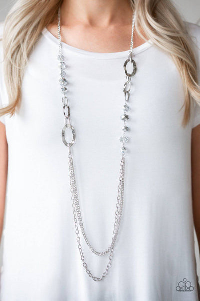 Modern Girl Glam - Silver Metallic Necklace - Paparazzi Accessories - GlaMarous Titi Jewels