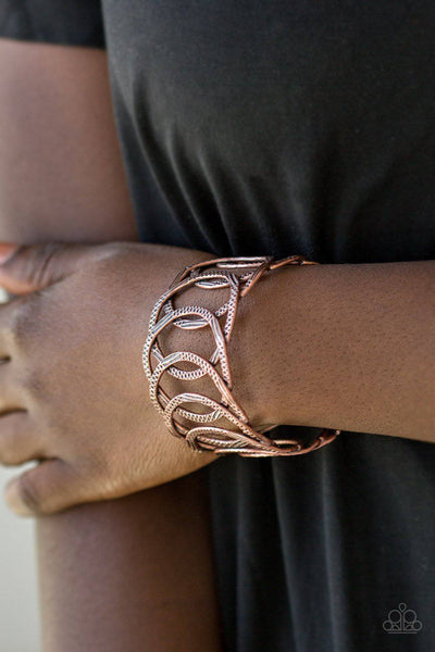 Circa de Contender - Copper Bracelet - Paparazzi Accessories - GlaMarous Titi Jewels